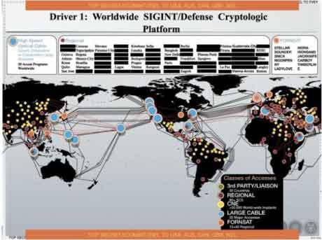 உலகெங்கிலும் 50,000 ற்கும் மேற்பட்ட கணனி வலையமைப்புக்குள் ஊடுருவிய NSA