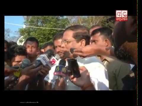 மஹிந்த ராஜபக்ஷ, மைத்திரிபால சிறிசேன வாக்களித்துள்ளனர் . (வீடியோ இணைப்பு) Rajapaksa and Maithripala cast their ballots