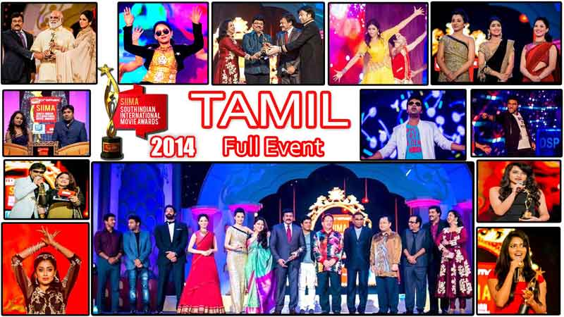 SIIMA 2014 Tamil Awards Full Event, Malaysia South Indian International Movie Awards (SIIMA)