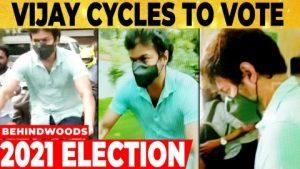 Read more about the article Vijay Cycle-லில் வந்து அதிரடி..அண்ணன் யாரு Thalapathy… Vera level